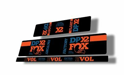 FOX 2016-17 DPS Float EVOL Rear Shock Sticker Factory Decal Kit Adhesive Dolphin