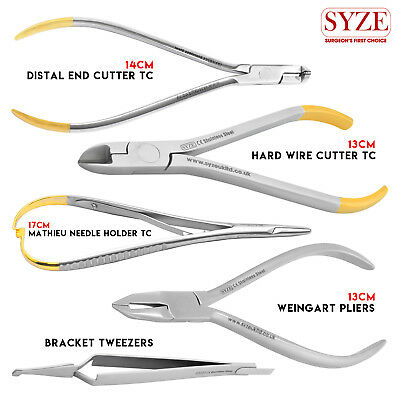 Orthodontic Plier Distal end cutter TC Wire Cutter and Bracket Tweezers Tools