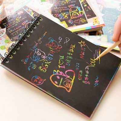 Magic Scratch Art Painting Book Paper Paintings Educational Playing Toys L70