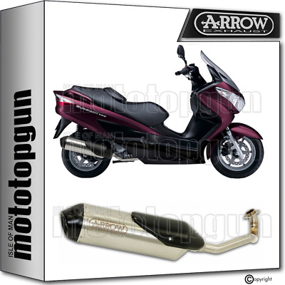 Arrow Full System Exhaust Cat Reflex 2 Nichrom Suzuki Burgman 200 2007 07