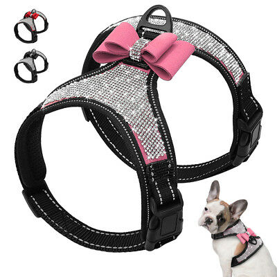 Bling Dog Vest Harness Reflective Pet Puppy Vest for Small Medium and large Dogs