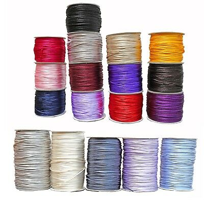 Rat-Tail 2mm Satin Rats Tail Cord Rope Trim Gift Wrap Braiding Various colours