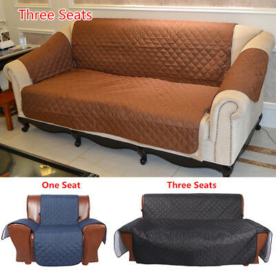 WATERPROOF QUILTED SOFA Couch Cover Pet Dog Chair Mat Seat ...