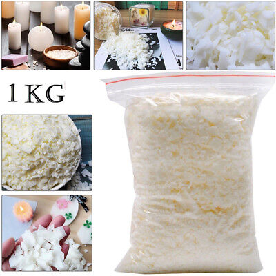 Wax Soy 1kg Soya Flakes 100 Pure clean Burning Candle Making 5kg No Soot S247