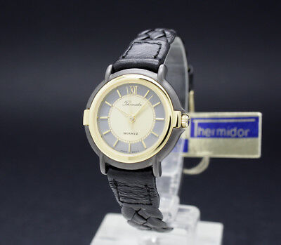New Old Stock 80s Ladies THERMIDOR Fancy vintage quartz watch NOS braided strap
