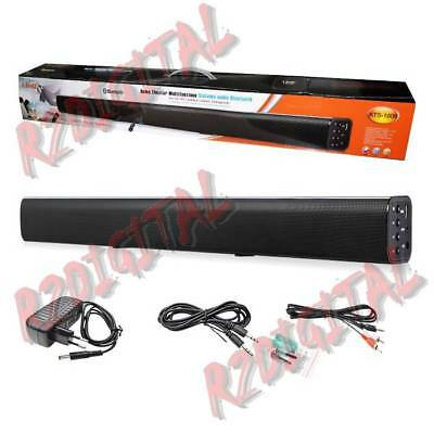 """Soundbar 2.2 Barra Tv Dolby Surround 2""""40W Home Theater Dts 3D Bluetooth Stereo"""