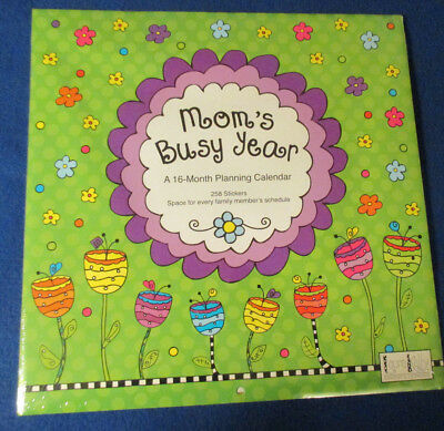 """2019 WALL """" MOM's BUSY YEAR """" 16 MOS 258 STICKERS 12X12"""" Laura KELLY ~ PROTECTED"""