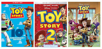 Toy Story Complete Movies 1, 2, 3 Trilogy DVD Sets