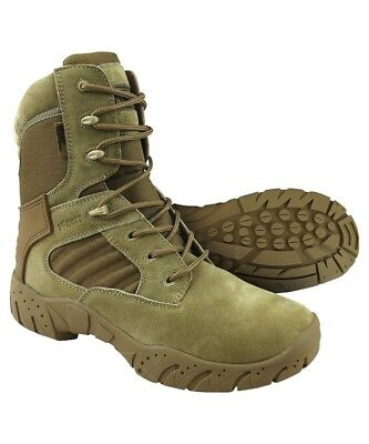 Kombat UK Tactical Pro Boots Coyote Zip Men's Suede Nylon Recon Army Country