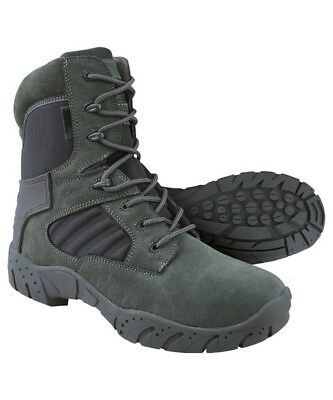 Kombat UK Tactical Pro Boots Grey Zip Men's Suede Nylon Recon Army Country