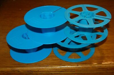 Lot of 4 Microfilm film Reels ~ Take-up reel. 35mm