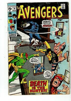 Avengers #74, VG 4.0, Black Panther, Goliath, Wasp, Vision