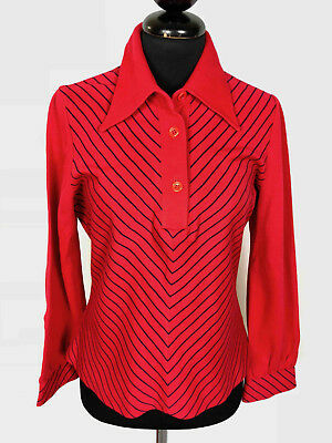 CULT VINTAGE '70 Maglione Maglia Polo Donna Lana Wool Woman Sweater Sz.S - 42