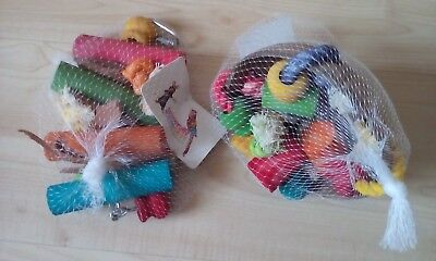 Job Lot 2 Parrot Toys For Parrots And Parakeets African Grey Amazon Cockatoo etc