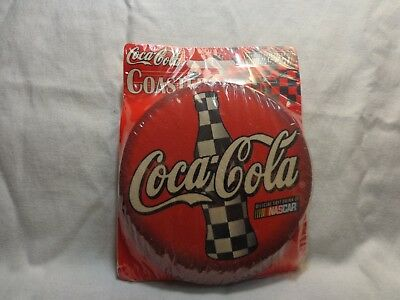 Coca-Cola-Coaster-Set-Of-6-Brand-New-NASCAR-Edition