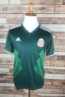 2f94b160a95 Mexico Futbol Soccer Football Green Home Jersey World Cup 2018 Medium Adidas  NEW