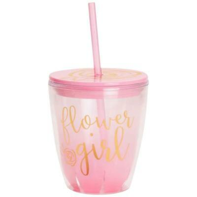 David's Bridal Flower Girl Insulated Tumbler Style F175318, Pink