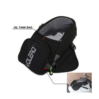 Universal Motorcycle Oil Fuel Tank Bag Magnetic Riding Bag with Waterproof Cover