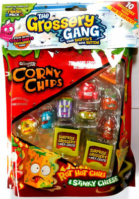 The Grossery Gang 10 Pack CORNY CHIPS Grosseries Figures 2 Milk Crates Series 1
