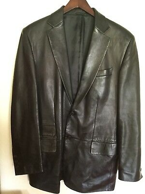 fda4a343d GUCCI BY TOM FORD MEN FITTED SOFT LEATHER JACKET/BLAZER SMALL EU 46 Free  Ship