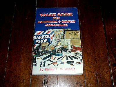 Value Guide For Barberiana & Shaving Collectibles by Phillip L Krumholz EXC RARE
