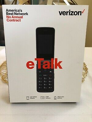 NEW eTalk Verizon Wireless Prepaid Cell Phone