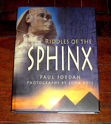 BOOK: Riddles of the Sphinx by Paul Jordan (1998 Hardcover) w/ Photos Egypt Giza