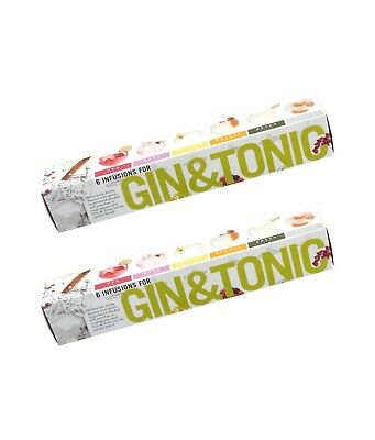 Gin Tonic Infusions Botanical Cocktail - 6 flavouring Tea Bags Gift (pack of 2)