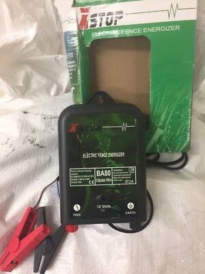 12v Battery Powered XSTOP Electric Fence Energiser Unit SPARES OR REPAIRS