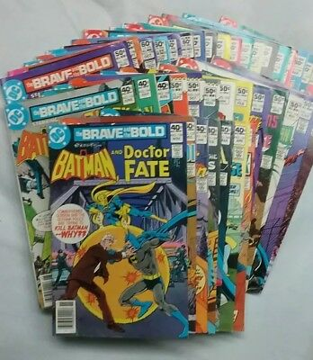 Lot of 39 - The Brave and the Bold Comic Books #156-199 - MUST SEE!