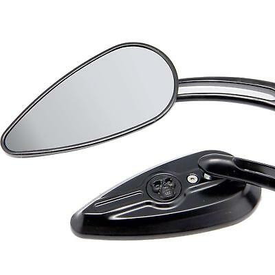 Black Skull Rearview Mirrors For Victory Hyosung Kymco Taotao Scooter 50Cc 49Cc