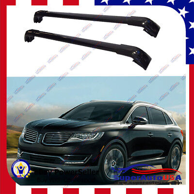 Top Roof Rack Lincoln MKX 2016-2019 Black Baggage Luggage Cross Bar Crossbar