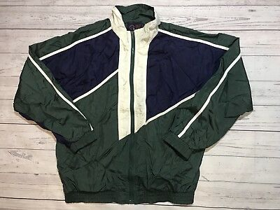 7f5330489a1bf VINTAGE REEBOK MENS L Green Full Zip 90s Style Color Block ...