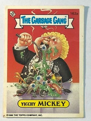 The Garbage Gang Card Sticker Garbage Pail Kids 162a Yicchy Mickey Series 4 1986