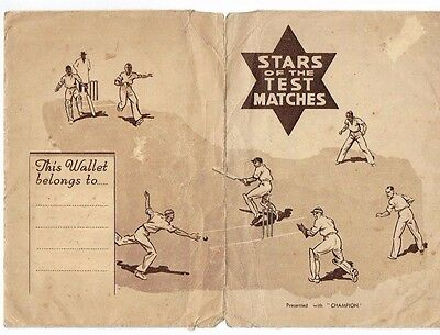 Stars of Test Matches Complete set 8 cards with original Wallet Dust Jacket