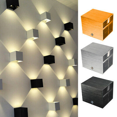 MODERN 3W LED Wall Lamp Up Down Sconce Spot Lighting Home Bedroom ...