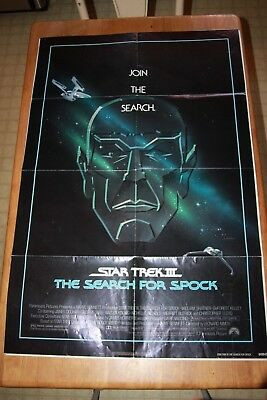 STAR TREK III: THE SEARCH FOR SPOCK Original Movie Poster 27X40 1984 fold 1sh