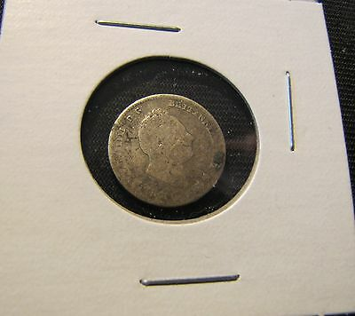 1836 Great Britain Four Pence Silver Coin