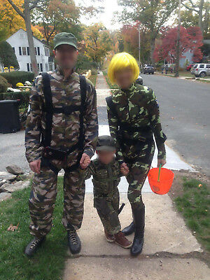 Army Military Family Costume Set