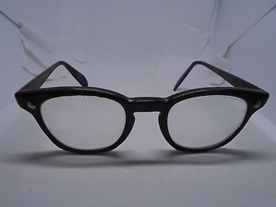 American Optical AO VINTAGE Eyeglass Frames 4 1/2 Brown Plastic