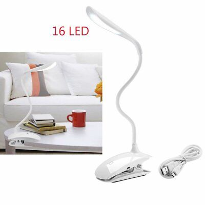 Clip-On Book Light Adjustable Warm White Diffused Reading Lamp EBBARED USA