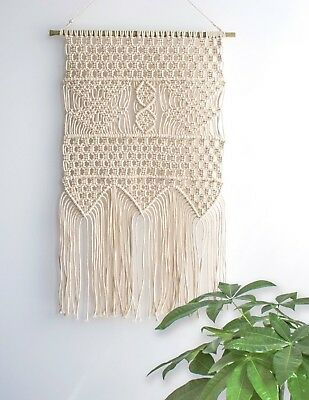 (Pattern 2) - Macrame Wall Hanging Tapestry - BOHO Chic Home Decorative