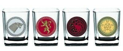 Game of Thrones House Sigil Shot Glass Set (Set of 4). Free Delivery
