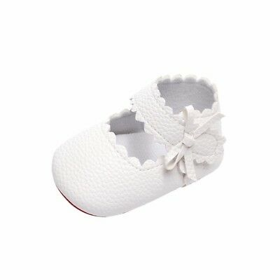 (0-6 Months, White) - Kolylong Baby Toddler Newborn Girls Cute Shoes Soft Sole