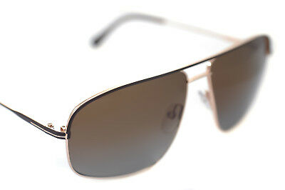 2fdd707c05dd5a TOM FORD JUSTIN POLARIZED TF467 50H 60mm Men Large Aviator Sunglasses GOLD  BROWN