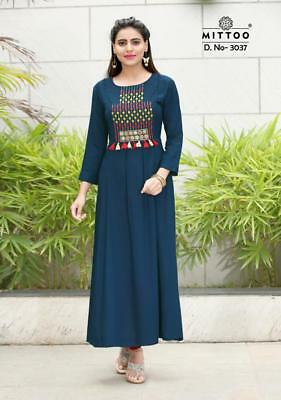 Indian Bollywood Kurta Kurti New Style Ethnic Dress Embroidery Top Good Quality