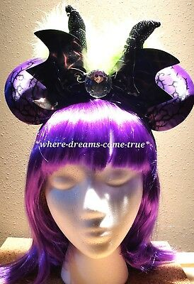 Disney Parks 2018 Minnie Mouse Ears Headband Maleficent Spell Bound (NEW)