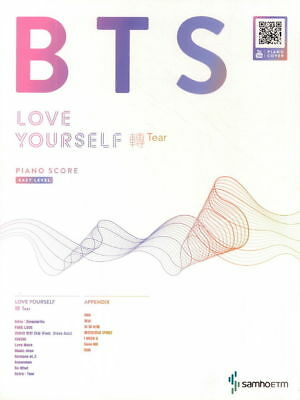 BTS Love Yourself 轉 Tear Piano Score Easy Level Bangtan Boys NEW