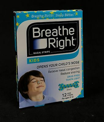 Breathe Right Kids Drug Free Reduce Snoring Congestion 12 Nasal Strip per box