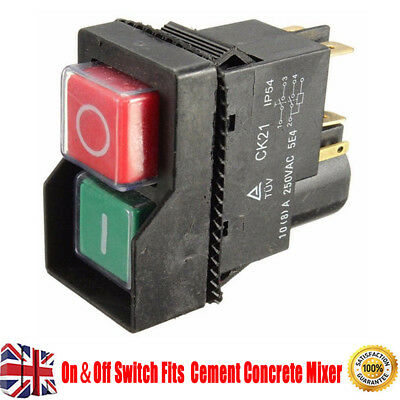 On&Off Switch Fits BELLE MINIMIX 150 Cement Concrete Mixer 240V Electric AFK